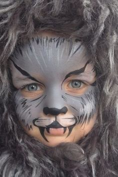 When you think about face painting designs, you probably think about simple kids face painting designs. Many people do not realize that face painting designs go Werewolf Face Paint, Werewolf Makeup, Werewolf Costume, Halloween Make, Halloween Costumes For Kids, Adult Costumes, Kids Wolf Costume, Big Bad Wolf Costume, Woman Costumes