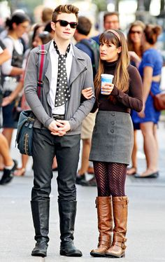 They both look fabulous. this is my idea fall outfit, and lifestyle for that matter.