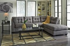 $728 The Comfortable Contemporary Design Of The Maier Charcoal Upholstery  Collection Features Plush Boxed Seating And Back Cushions Giving You The  Comfort ...