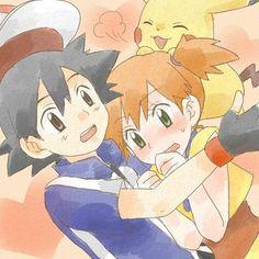 I give credit to whoever made this Pokemon Ash And Misty, Pokemon Ash And Serena, Ash Pokemon, Pikachu, Pokemon Couples, Pokemon Universe, Original Pokemon, Ash Ketchum, Pokemon Images
