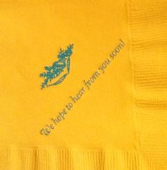 Personalized napkins for any event! #weddings #birthdays etc.! Variety of color, symbol, and font choices www.napkinspersonalized.com