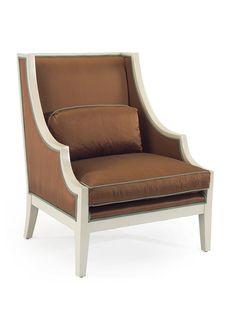 Carlton Chair by John Richard (Love the contrasting blue trim)