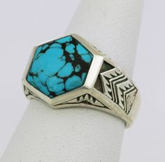 Turquoise+Aztec+Ring+by+StoweGems+on+Etsy,+$165.00