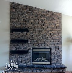 Manufactured Stone | Ready Stack (Color: Almond Buff) | Fireplace | Kodiak Mountain Stone