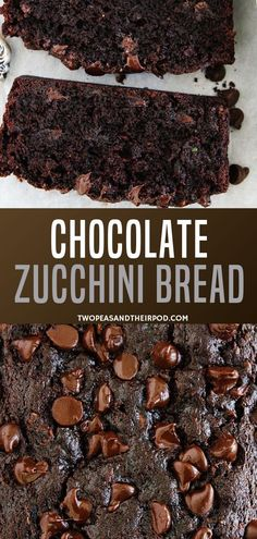 Nutritious Snack Tips For Equally Young Ones And Adults Super Moist Easy Chocolate Zucchini Bread Recipe With A Flavorful Taste This Will Remind You Of Your Favorite Chocolate Cake Without Knowing There's A Vegetable In It. Attempt It Now, Your House Will Chocolate Chip Zucchini Bread, Zucchini Bread Recipes, Zucchini Cake, Chocolate Courgette Cake, Moist Zucchini Bread, Recipe Zucchini, Healthy Zucchini, Köstliche Desserts, Dessert Recipes