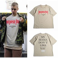 ==> [Free Shipping] Buy Best OVERSIZE Justin Bieber T-shirt MY MAMA DO NOT LIKE YOU Hip Hop Men and Women Lovers Short-sleeved Tee Shirt Homme Size S-XXXL Online with LOWEST Price | 32680884087