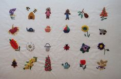 by Kelly Fletcher ( white duvet cover. Bullion Embroidery, Baby Embroidery, Embroidery Patches, Cross Stitch Embroidery, Hand Embroidery Patterns Free, Embroidery Stitches Tutorial, Embroidery Designs, Diy Crafts And Hobbies, Thread Art