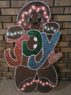 here is a close up of the big Gingerbread boy