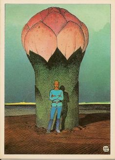 """Moebius - Rare postcard """"UNE MERVEILLE DE L'UNIVERS"""""""