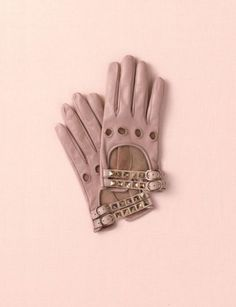 Leather Valentino studded gloves