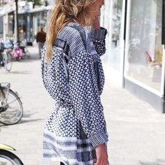 Rough Rugs - dresses - leila k black white
