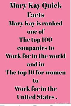 Mary Kay Facts http://www.marykay.com/lisaedwards993@gmail.com or call/ text  252- 578 -9824