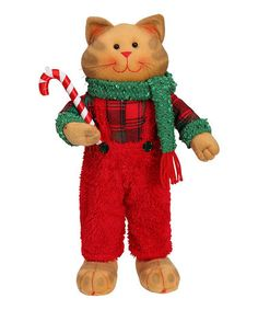 Loving this Boy Cat Holding Candy Cane Figurine on #zulily! #zulilyfinds