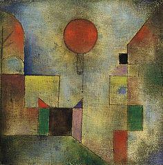 Paul Klee ~ Red Balloon, 1922 (Guggenheim)