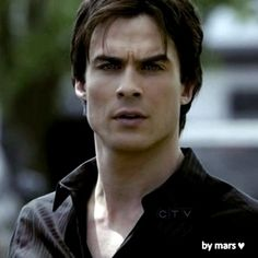 Damon. Vampire Diaries. He is looking at Elena in this shot when she is dressed up in clothes from the 1800's.