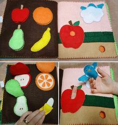 Página 10 No-coser, máquina de coser o mano coser niño fieltro libro ocupado patrón