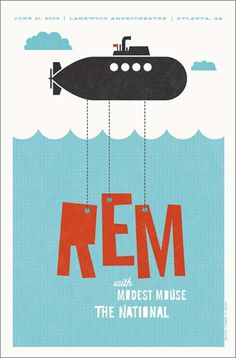 REM #poster #graphic #design #bands