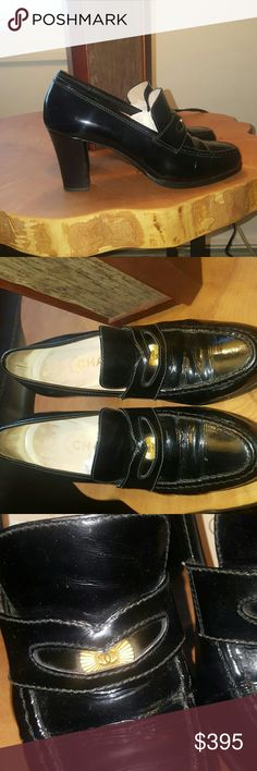 CHANEL 36 shoes MADE IN ITALY heels Great loafer styled heel  Barely worn In love CHANEL Shoes Heels