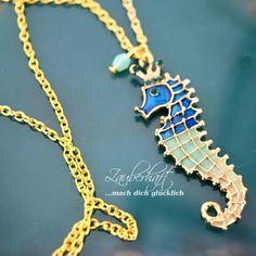 Süße Seepferdchen Halskette  www.zauberhaft-shop.de
