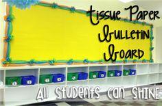tissue paper bulletin board