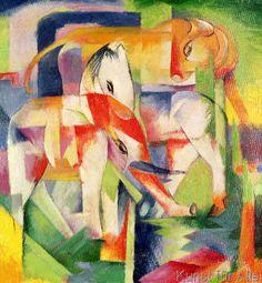 Franz Marc - Elefant, Pferd und Kuh, 1914