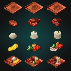 ArtStation - Food, . Furuori . Food Design, Game Design, Gear Art, Fashion Design Drawings, Cooking Games, Food Drawing, Kawaii Art, Art Reference Poses, Food Illustrations