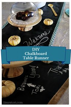 Feeling festive? Craft a cool chalkboard table runner for all your holiday celebrations this year!