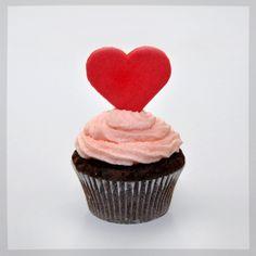 Heart cupcake #love #cupcake #heart