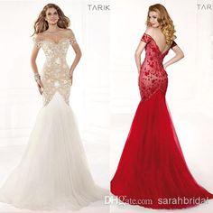 Wholesale Evening Dresses - Buy White Red Designer Lace Backless Cheap Mermaid Ball Gown 2014 Tarik Ediz Formal Evening Dresses Long Pageant Sexy Prom Dress Tulle Elegant, $149.0 | DHgate