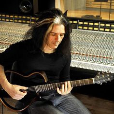 #AlexSkolnick with his Silent Guitar at Spin Studios in #NYC. #yamaha #slg #testament #silentguitar #slg200s #playacoustic