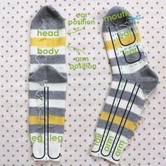 aap maken van sokken