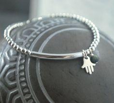 925 Sterling Silver Hand of Hamsa / Fatima by KatieBourchier