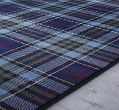 Echoing the subtle richness of tartans associated with the Highlands of Scotland, any design in this collection would add warmth and style to a room. In beautiful rich colours, these prestigious looking rugs are polypropylene, making them hard w Blue Rugs, Modern Rugs, Tartan, Colours, Traditional, Pattern, Design, Home Decor, Style
