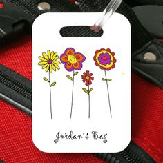 Mark you bag with fun spring flowers!