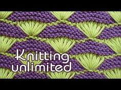 Shells on Garter-stitch Background         -          Knitting Unlimited