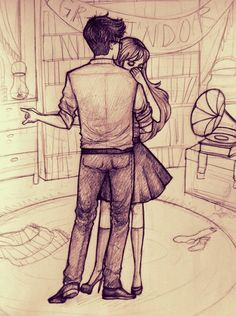 Supposed to be James and Lily, but reminds me of Harry and Hermione dancing