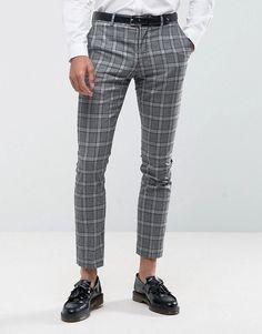 Selected Homme Slim Suit Pants In Salt n Pepper Check - Gray Latest Mens Fashion, Latest Fashion Clothes, Fashion Online, Mens Dress Pants, Suit Pants, Checkered Trousers, Pantalon Slim, Blazer Fashion, Men's Fashion
