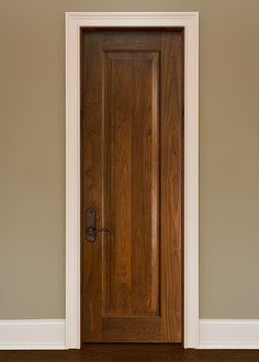 Classic Walnut Solid Wood Front Entry Door - Single - DBI-1000A