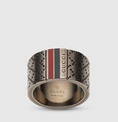 Gucci - anillo amplio diamantissima 295674J89L08518