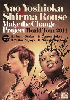 Autographed by Nao Yoshioka & Shirma Rouse@Nihonbashi Mitsui Hall(2014.11.24)