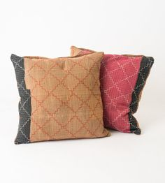 2 Vintage Quilt Pillows in 18x18  222 by gypsya on Etsy, $54.00
