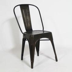 Chaise industrielle DEPOT en métal. http://www.made-in-meubles.com/chaise-metal-tole-x.html?80=150