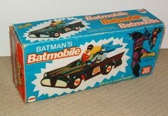 TOY STAMP & 1974 MEGO BATMAN BATMOBILE IN RARE PHOTO BOX !!
