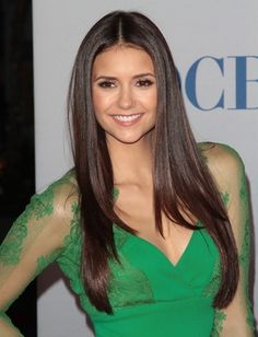 Nina Dobrev's Long Straight Hair || The San Francisco @ Waves Blow Dry Bar