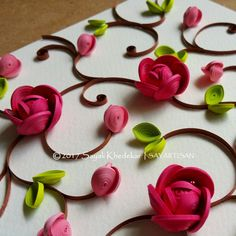 Spectacular pietra dura inspired quilling art by artist Sayali Khedekar.