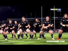 The All Blacks famous Haka-Watch this, it is a tremendous tradition in N.Z Rugby.