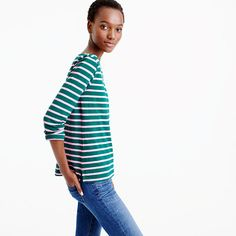This is your perfect, easy, classic striped T-shirt. And it brightens up…