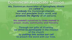 Springfield il dominican associate mission we dominican associates