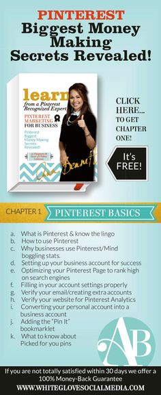 Do you want to supercharge traffic and sales growth with Pinterest? Stop wasting time and money and learn from a Pinterest Recognized Expert. CLICK here to receive Chapter 1 Pinterest Marketing for business for free http://www.whiteglovesocialmedia.com/pinterest-marketing-for-business/