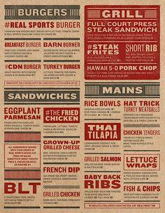 Art of the Menu: Real Sports Bar & Grill